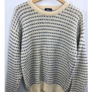 Vtg WOOLRICH Chunky Nordic Knit Ski Lodge Sweater